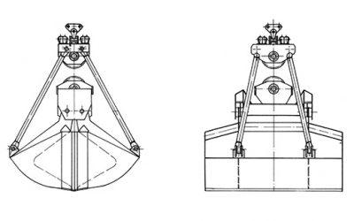 Seilgreifer – Typ STLB (Hafenumschlag)