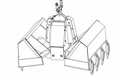 Typ MZG EBS Motor-Zweischalengreifer für Ersatzbrennstoffe
