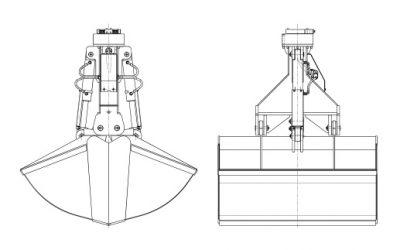 Hydraulikgreifer – Typ KZH (Hafenumschlag)