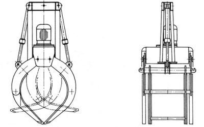 Motorgreifer – Typ MHG (Hafenumschlag)