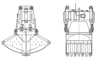 Motorgreifer – Typ MUG (Kies- und Sandgewinnung)