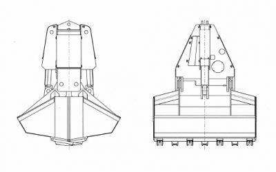 Motorgreifer – Typ MZG Hafen (Hafenumschlag)