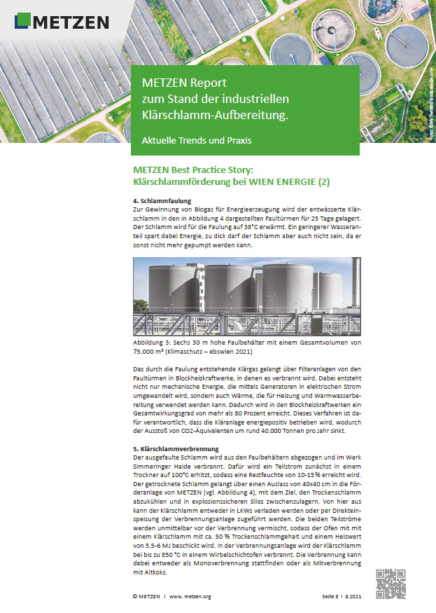 METZEN INDUSTRIES | Metzen Report zum Stand der industriellen Klärschlamm Aufbereitung